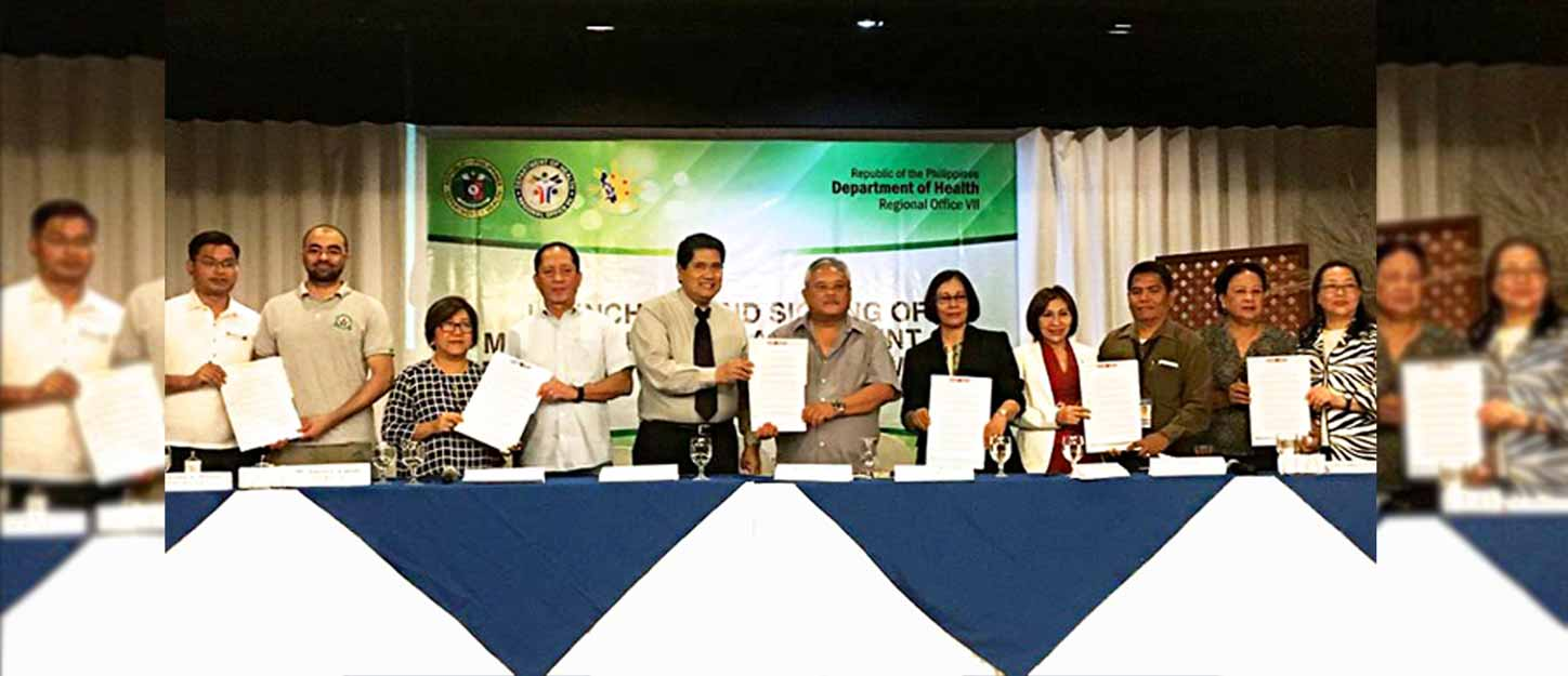 MOA Signing with Cebu DOH Region VII